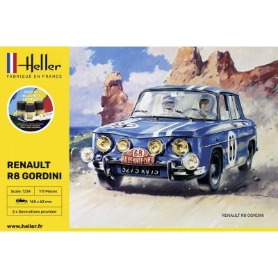 RENAULT R8 GORDINI (Pegamento & pinturas) -1/24- Heller 56700