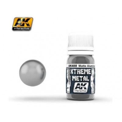 XTREME METAL MATTE ALUMINIUM 30 ml - AK 488