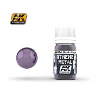 XTREME METAL METALLIC PURPLE 30 ml - AK 674
