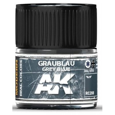 PINTURA REAL COLORS GREY BLUE RAL5008 (10 ml) - AK RC208