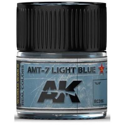 PINTURA REAL COLORS AMT-7 LIGHT BLUE (10 ml) - AK Interactive RC316
