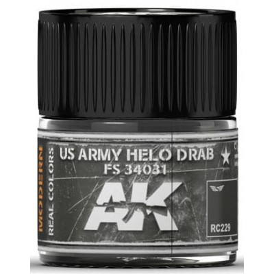 PINTURA REAL COLORS US ARMY HELO DRAB FS4031 (10 ml) - AK Interactive RC229