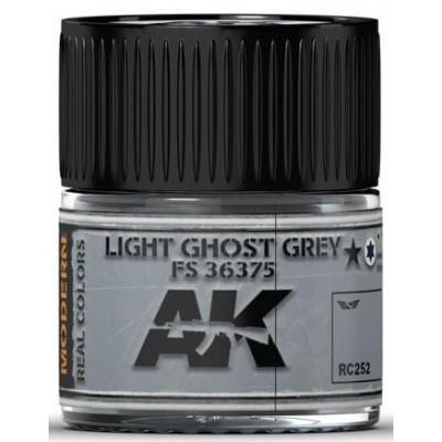 PINTURA REAL COLORS LIGHT GHOST GREY FS36375 (10 ml) - AK Interactive RC252