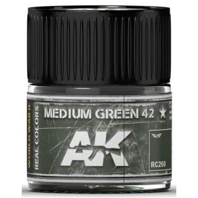 PINTURA REAL COLORS MEDIUM GREEN 42 (10 ml) - AK Interactive RC260
