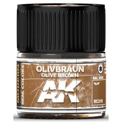 PINTURA REAL COLORS OLIVE BROWN RAL8008 (10 ml) - AK Interactive RC218