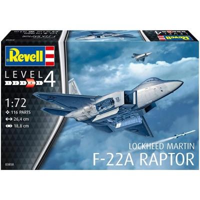 LOCKHEED MARTIN F-22 A RAPTOR -Escala 1/72- Revell 03858