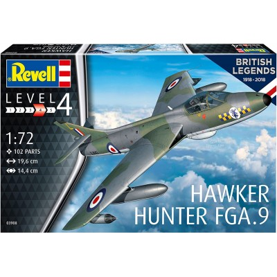 HAWKER HUNTER FGA.9 -Escala 1/72- Revell 03908