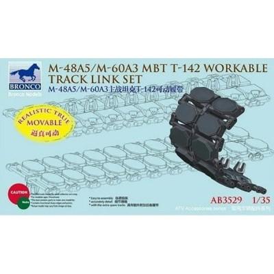 SET ORUGAS T142 PARA M-48 / M-60 PATTON -Escala 1/35- Bronco Model AB3529