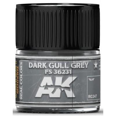 PINTURA REAL COLORS DARK GULL GREY (10 ml) - AK Interactive RC247