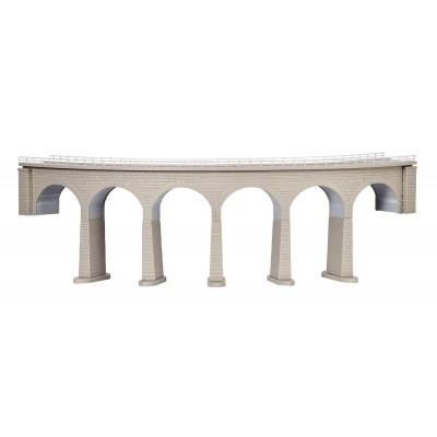 VIADUCTO EN CURVA - ESCALA N - (36.5x5.6x11 cms) KIBRI 37665