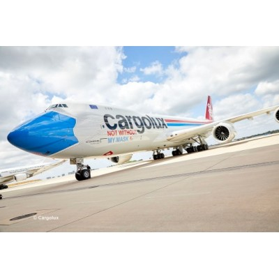 BOEING 747-8F CARGOLUX LX VCF - ESCALA 1/144 - REVELL 03836