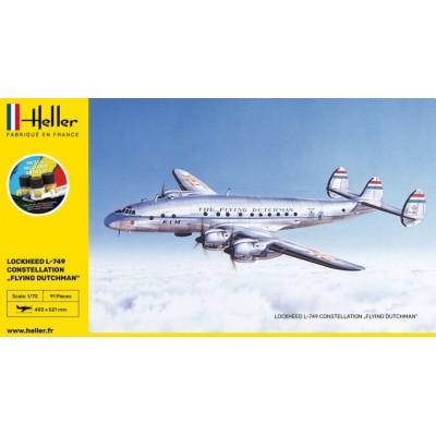 "LOCKHEED L-749 CONSTELLATION ""Flying Dutchman"" STARTER KIT -Escala 1/72- Heller 56393"