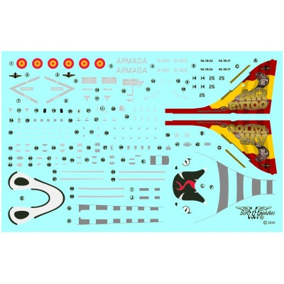 CALCAS HARRIER AV-8B PLUS AIR TATOO 19 - ESCALA 1/72 - SERIES ESPAÑOLAS 2072