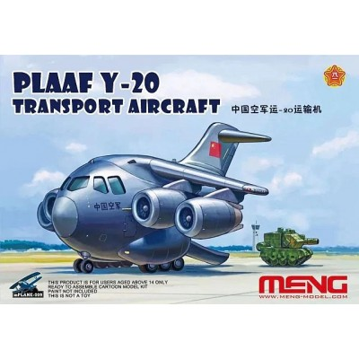 PLAAF Y-20 TRANSPORT AIRCRAFT - TOONS SERIES - MENG M PLANE 009