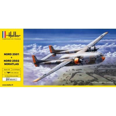 NORD 2501 + NORD 2502 NORATLAS TWINSET - HELLER 85374 - ESCALA 1/72