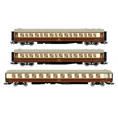 "SET 3 COCHES VIAJEROS ""Al-Andalus"" RENFE Ep. IV -Escala 1/87 - H0- Electrotren HE4007"