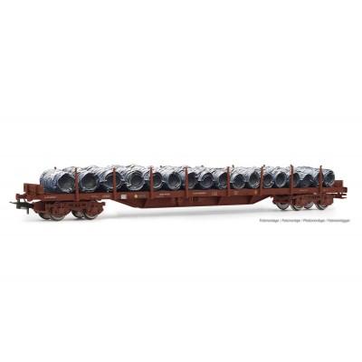 VAGON PLATAFORMA TELEROS Tipo MMQ & BOBINAS ALAMBRE RENFE Ep.IV -Escala 1/87 - H0- Electrotren HE6033
