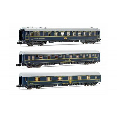 SET 3 COCHES VIAJEROS CIWL (Coche T2 RENFE, Coche T2 CIWL y Coche Restaurante) RENFE -Escala 1/160 - N- Arnold HN4344