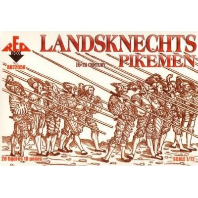 PIQUEROS LANDSKNECHTS (Guerra Treinta Años) -Escala 1/72- Red Box RB72058
