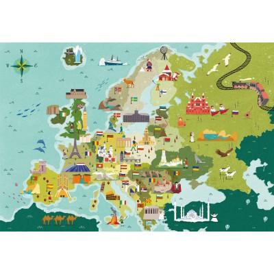 PUZZLES 250 PZS MAPA EUROPA LUGARES - LEMENTONI 29062
