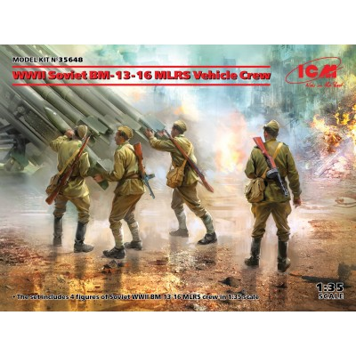 TRIPULACION SOVIETICA ESCALA 1/35 DE CAMION LANZACOHETES BM-13-16 - ICM 35648