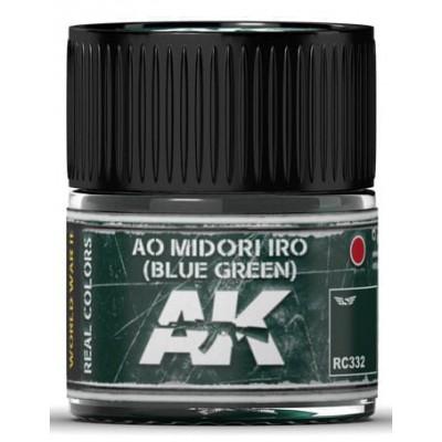 PINTURA REAL COLORS AO MIDORI IRO - Blue Green (10 ml) - AK RC332