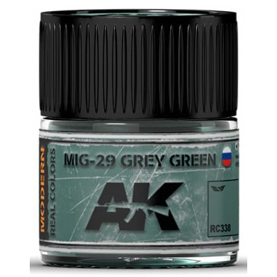 PINTURA REAL COLORS MIG-29 GREY GREEN (10 ml) - AK RC338