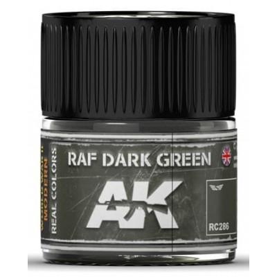 PINTURA REAL COLORS RAF DARK GREEN (10 ml) - AK Interactive RC286