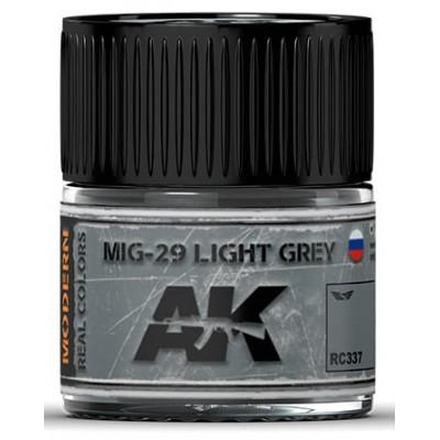 PINTURA REAL COLORS MIG-29 LIGHT GREY (10 ml) - AK Interactive RC337