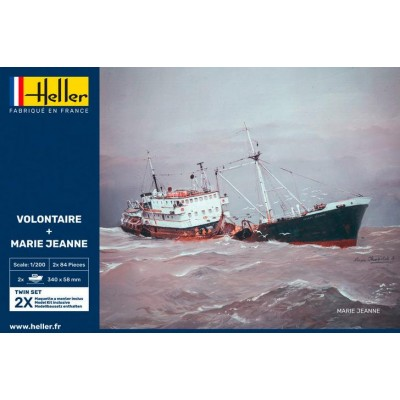 PESQUERO VOLONTAIRE & MERIE JEANNE -Escala 1/200- Heller 85604