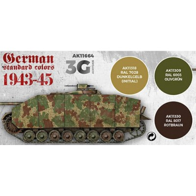 SET GERMAN STANDARD COLORS 1943-45 - AK Interactive 11664