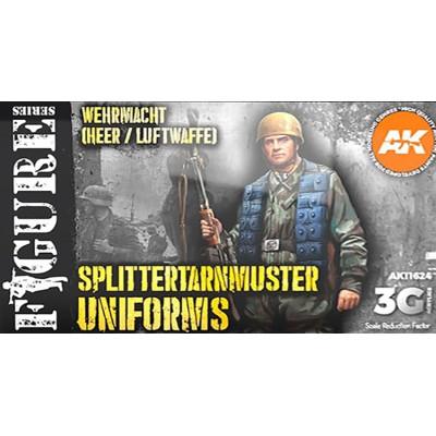 FIGURE Serie: WEHRMACHT / LUFTWAFFE SPLITTERTARNMUSTER UNIFORMS - AK Interactive 11624