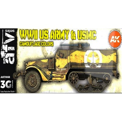 AFV Series:WWII US ARMY & USMC CAMOUFLAGE COLORS - AK Interactive 11668