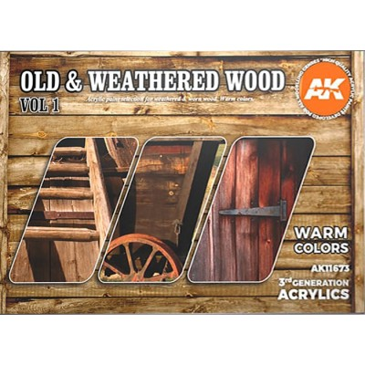 OLD & WEATHERED WOOD (Warm Colors) Vol.1 - AK Interactive 11673