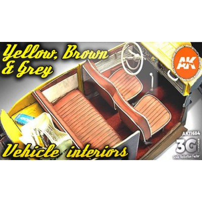 YELLOW, BROWN & GREY VEHICLE INTERIORS - AK Interactive 11684