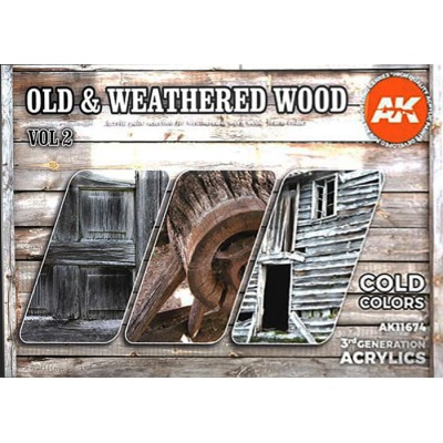 OLD & WEATHERED WOOD (Cold Colors) Vol.2 - AK Interactive 11674