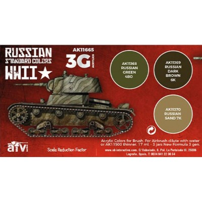 SET RUSSIAN STANDARD COLORS WWII - AK Interactive 11665