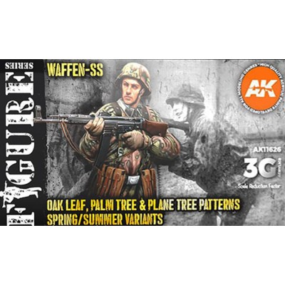 FIGURE Serie: WAFFEN SS OAK LEAF, PALM TREE & PLANE TREE PATTERNS SPRING/SUMMER VARIANTS - AK Interactive 11626