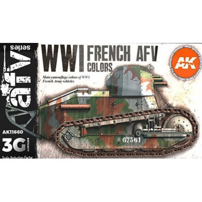 AFV Serie: WWI FRENCH AFV COLORS - AK Interactive 11660
