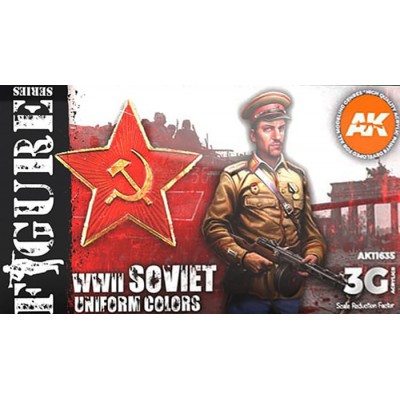 FIGURE Serie: WWII SOVIET UNIFORM COLORS - AK Interactive 11635