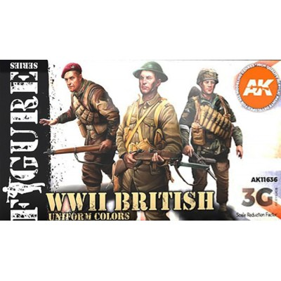 FIGURE Serie: WWII BRITISH UNIFORM COLORS - AK Interactive 11636