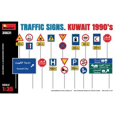 "SEÑALES DE TRAFICO ""Kuwait 1990"" -Escala 1/35- MiniArt 35631"