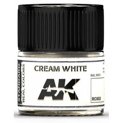 PINTURA REAL COLORS CREAM WHITE (10 ml) - AK RC002
