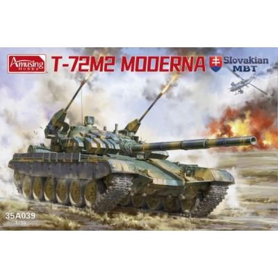 """CARRO DE COMBATE T-72 M2 """"Moderna"""" Slovakia -Escala 1/35- Amusing Hobby 35A039"""