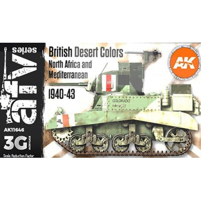 AFV Serie: BRITISH DESERT COLORS 1940-43 - AK Interactive 11646