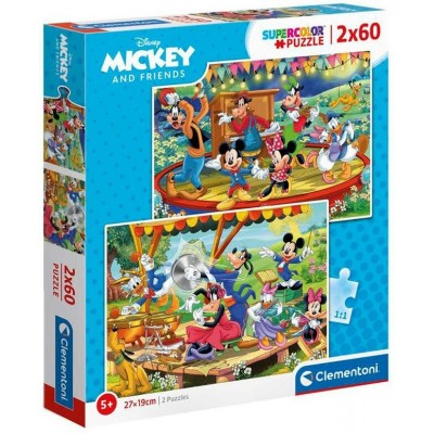 PUZZLE 60 PZS X 2 MICKEY AND FRIENDS - CLEMENTONI 21620