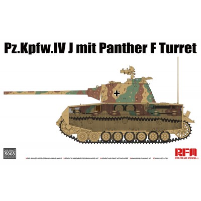 CARRO DE COMBATE Sd.Kfz. 161 PANZER IV Ausf. J (Torre Panther F) -Escala 1/35- RYE FIELD MODEL RM5068