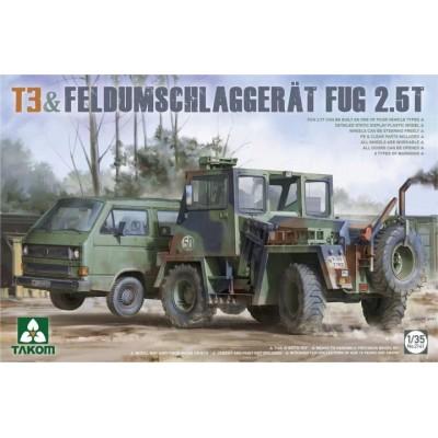 FURGONETA T-3 & TRACTOR ELEVADOR FUG 2.5t -Escala 1/35- TAKOM 2141