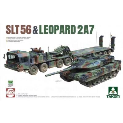 CAMION GONDOLA SLT56 & CARRO DE COMBATE LEOPARD 2 A7 -Escala 1/72- TAKOM 5011