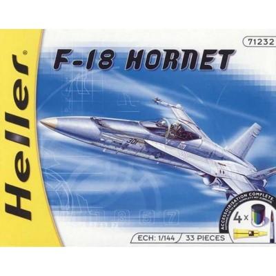 McDONNELL DOUGLAS F/A-18 A HORNET (Pegamento y pinturas) -Escala 1/144- Heller 71232